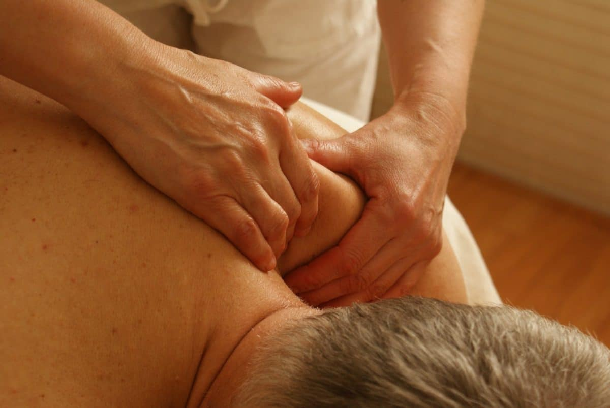 Soft tissue massage to correct and hold alignment